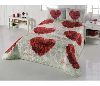 Çift Taraflı Yatak Örtüsü Rose Love
