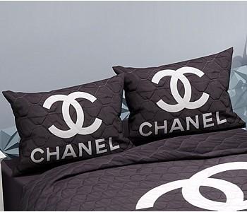 Armodi Çift Kişilik Yatak Örtüsü Chanel Black