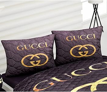 Armodi Çift Kişilik Yatak Örtüsü Golden Gucci
