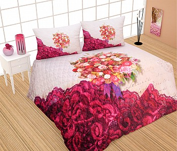 Armodi Çift Kişilik Yatak Örtüsü Garden Rose