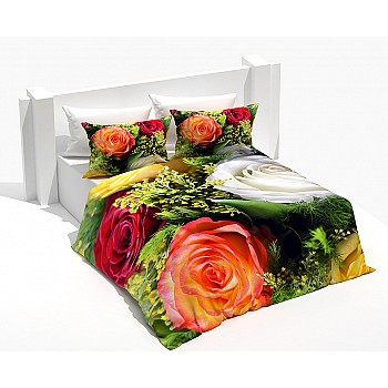 Armodi 3D Çift Kişilik Nevresim Takımı Colorfull Rose