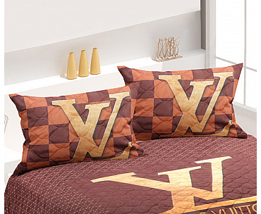 Armodi Çift Kişilik Yatak Örtüsü Louis Vuitton Brown