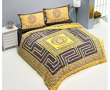 Armodi Çift Kişilik Yatak Örtüsü Golden Versace