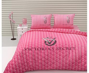 Armodi Çift Kişilik Yatak Örtüsü Pink Victoria's Secret